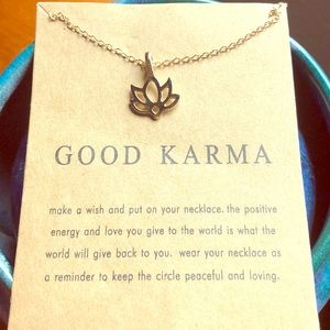 Lotus 'Good karma' necklace
